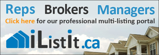 Reps, Brokers, Managers - click here for our professional multi-listing portal iListIt.ca